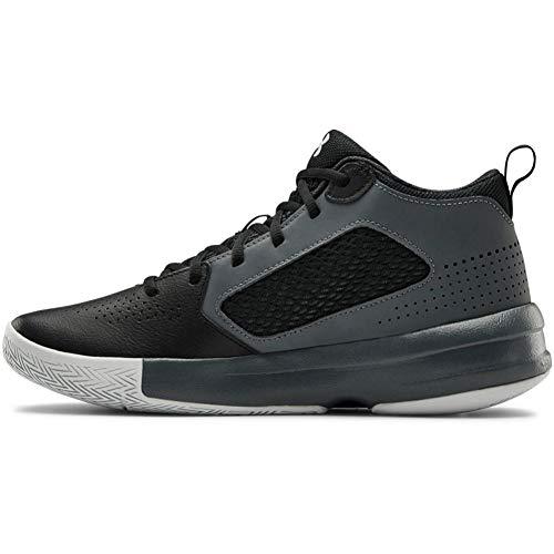 Under Armour unisex child Lockdown 5 Basketball Shoe, Black (001 Pitch Gray, 10.5 US