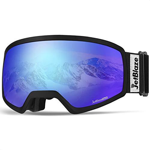 JetBlaze Ski Goggles, OTG Snowboard Goggles (Blue)
