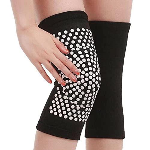 TSSPLUS 1 Pair Self Heating Knee Pads Magnetic Therapy Kneepad Pain Relief Arthritis Brace Support Patella Knee Sleeves Pads (M)