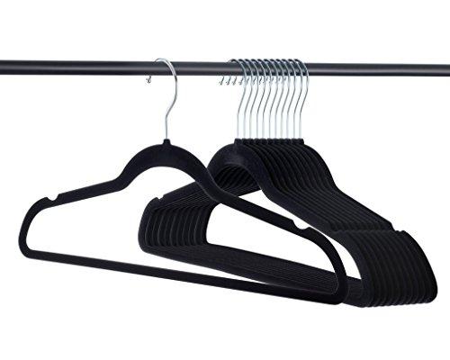 Home-it Premium Velvet Hangers Heavy Duty Clothes Hook Swivel 360-Ultra Thin, 30 Pack (50 Pack)