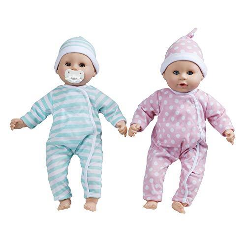 Melissa & Doug Mine to Love Twins Luke & Lucy Dolls (Pretend Play, Baby Dolls, 15 Inches)