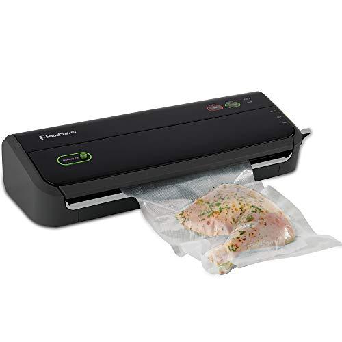 FoodSaver Vacuum Sealer Machine with Starter Vacuum Seal Bags & Rolls, Safety Certified, Black - FM2000-FFP
