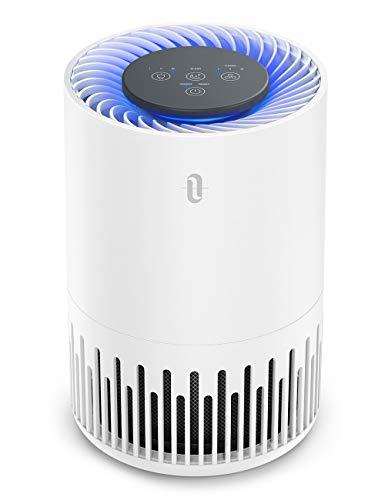TaoTronics HEPA Air Purifier for Home, Allergens Smoke Pollen Pets Hair, Desktop Air Cleaner with True HEPA Filter, Sleep Mode, Night Light, Odors Dust Mold, Bedroom Office