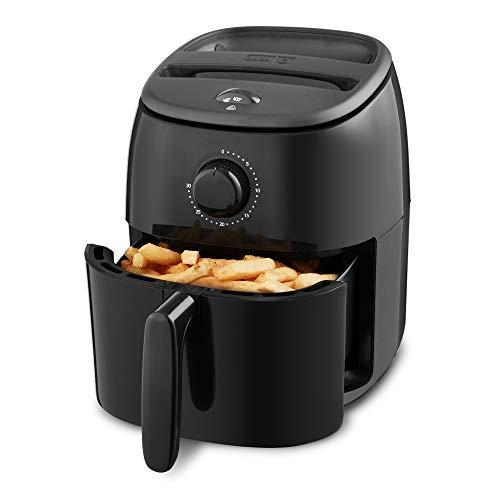 Dash Tasti Crisp Electric Air Fryer + Oven Cooker with Temperature Control, Non-stick Fry Basket, Recipe Guide + Auto Shut Off Feature, 1000-Watt, 2.6 Quart - Black