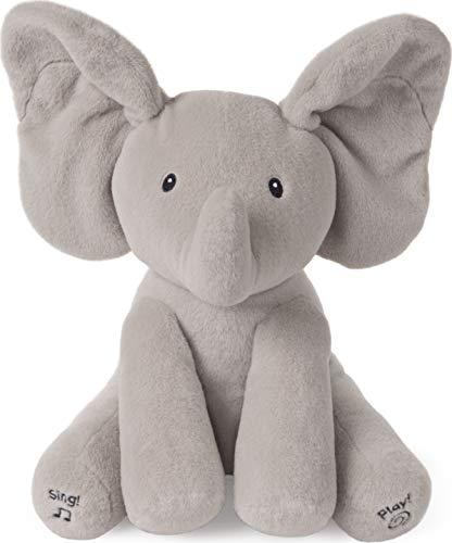 Baby GUND Animated Flappy The Elephant Stuffed Animal Baby Toy Plush, Gray, 12'