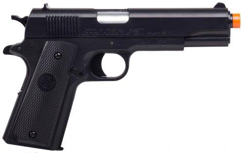 GameFace ASP311B Stinger P311B Spring-Powered Single-Shot Military-Style Airsoft Pistol, Black