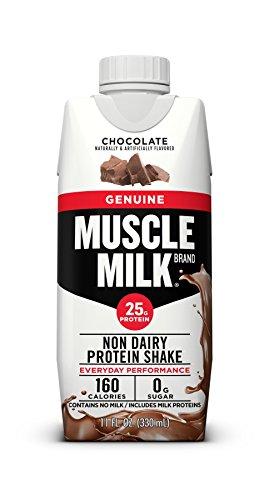 Cytosport Muscle Milk Genuine Protein Shake, Chocolate, 25g Protein, 11 FL OZ, 12 Count