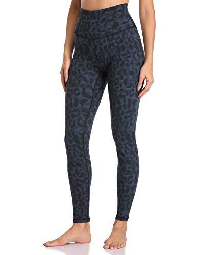 Colorfulkoala Women's High Waisted Pattern Leggings Full-Length Yoga Pants (M, Cyan Leopard)