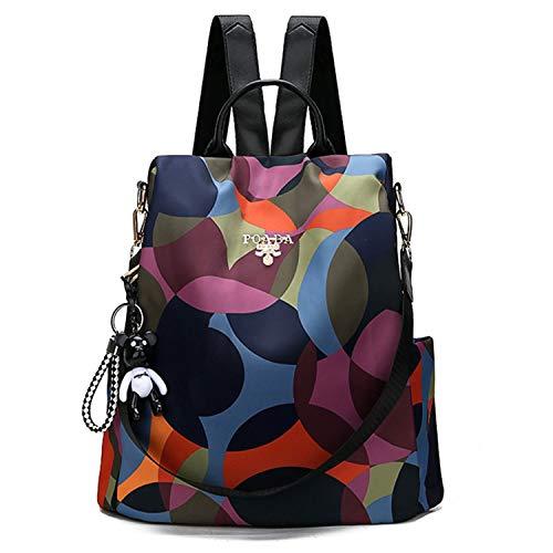 Freie Liebe Women Anti-Theft Backpack Purse Waterproof Oxford Lightweight Ladies Bags School Shoulder Handbags