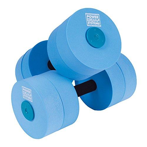 Power Systems Water Dumbbells, Medium Resistance, Pair, Blue (86560)