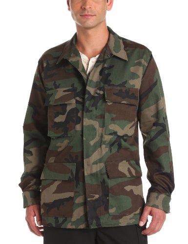 Propper Men's BDU Coat, Woodland, 60% Cotton, 40% Polyester, Large Regular