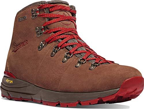 Danner Women's 62245 Mountain 600 4.5' Waterproof Hiking Boot, Brown/Red - 9.5 M