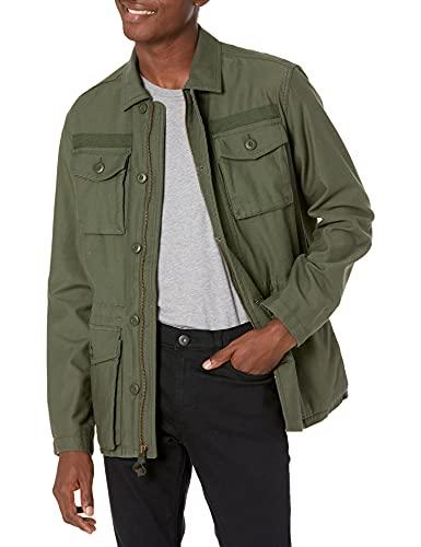 Goodthreads Men's 4-Pocket Military Jacket, Deep Depth/Olive, Small