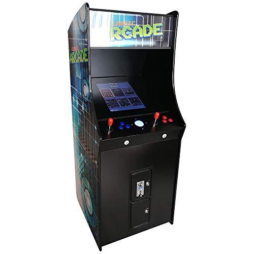 Creative Arcades Full-Size Commercial Grade Cabinet Arcade Machine | Trackball | Stools Included | 60 Classic Games | 2 Sanwa Joysticks | 3-Year Warranty