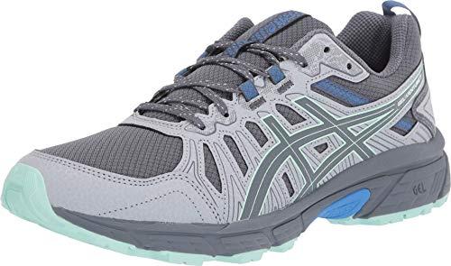 ASICS Women's Gel-Venture 7 Trail Running Shoes, 8.5M, Sheet Rock/ICE Mint