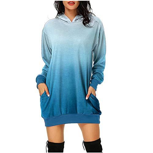 Hoodies for Women Pullover Womens Christmas Hoodies Dresses Xmas Long Sleeve Mini Dress Casual Comfy Oversize Sweatshirt Dress Jumper Tops