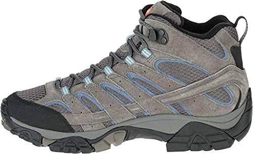 Merrell Women's Moab 2 Mid Waterproof Hiking Boot, Granite, 9 M US