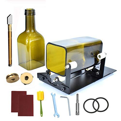 JNDJNFV Version Bottle Cutting Machine, Glass Bottle Cutter, Round, Square, Oval Bottle and Bottle Neck, for Cutting Wine Beer Whiskey Alcohol Champagne Liquor Bottles, Upgrade Version