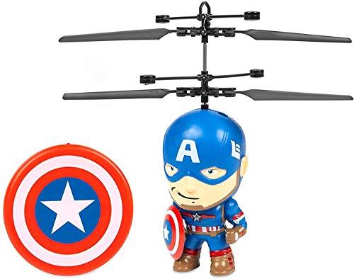Marvel 3.5 Inch: Captain America Flying Figure IR Helicopter (Marvel, Avengers, Captain America)