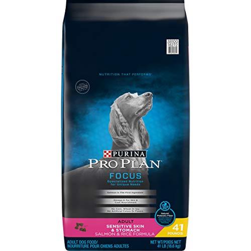 Purina Pro Plan Sensitive Stomach Dry Dog Food, FOCUS Sensitive Skin & Stomach Salmon & Rice Formula - 41 lb. Bag