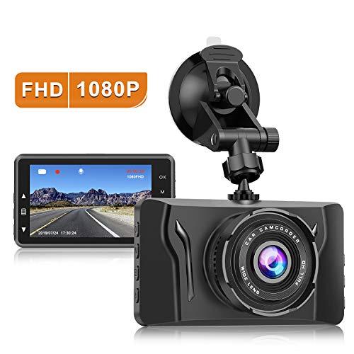 Dash Cam for Cars 1080P FHD Car Dash Camera CHORTAU 2021 New Version Car Camera Recorder 3.2Inch Screen Dashboard Camera with 170°Wide Angle, Super Night Version, WDR, Loop Recording, Parking Monitor