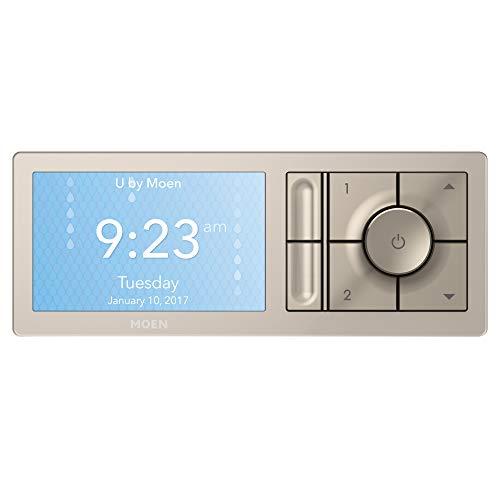 Moen TS3302TB U by Moen Shower Smart Home Connected Digital Bathroom Controller, 2-Outlet, Wall Mounted, Terra Beige