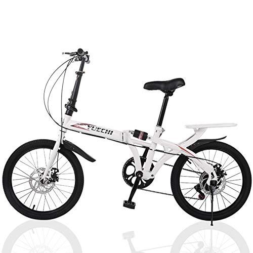 Folding Bike for Men & Women, 20 inch 7 Speed Ultra-Light Portable Women's Commuting City Bike for Students, Office Workers