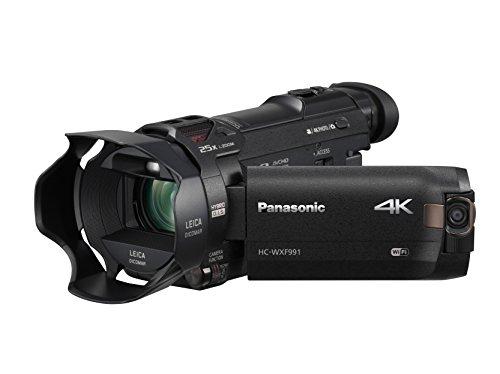 Panasonic 4K Cinema-Like Video Camera Camcorder HC-WXF991K, 20X Leica DICOMAR Lens, 1/2.3' BSI Sensor, 5-Axis Hybrid O.I.S, HDR Mode, EVF, WiFi, Multi Scene Video Recording (Black)