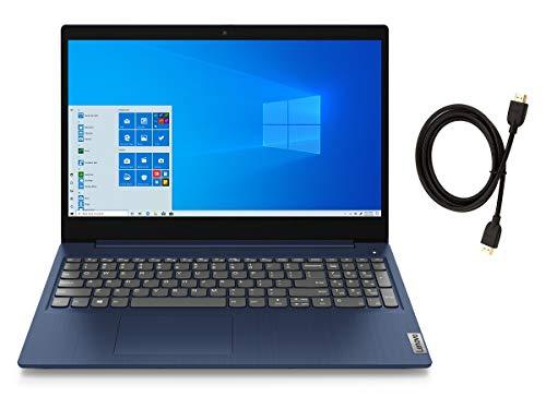Lenovo IdeaPad 3 15.6' FHD IPS LED Backlit Anti-Glare Laptop   AMD Quad-Core Ryzen 5 3500U   20GB DDR4 RAM   1TB SSD   Windows 10   Abyss Blue   with Woov High Speed 6FT HDMI Cable Bundle