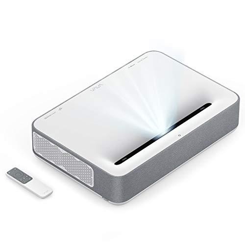 VAVA 4K UHD Laser TV Home Theatre Projector   Bright 2500 Lumens   Ultra Short Throw   HDR10   Built-in Harman Kardon Sound Bar   ALPD 3.0   Smart Android System, White