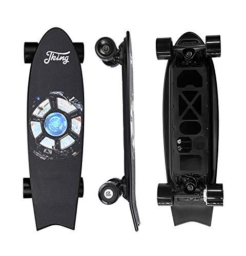 Electric Skateboard Electric Longboard Skateboard with Remote Control Electric Skateboard ,450W Hub-Motor,18.6 MPH Top Speed,7.6 Miles Range,3 Speeds Adjustment