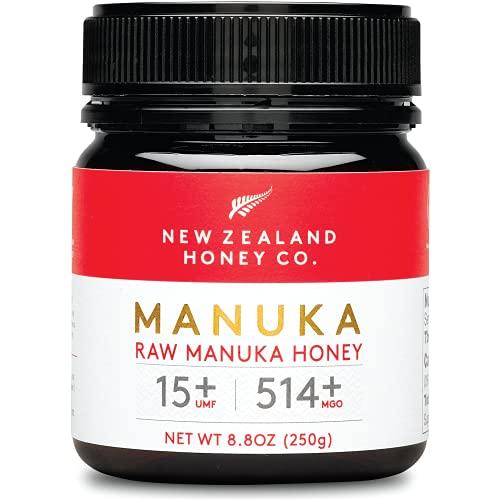 New Zealand Honey Co. Raw Manuka Honey UMF 15+ | MGO 514+, UMF Certified / 8.8oz