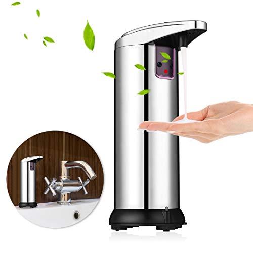 WUYASTA Automatic soap Dispenser,Touchless Soap Dispenser,Infrared Motion Sensor Waterproof Base,Auto Hand Soap Dispenser for Bathroom Kitchen Hotel Restaurant