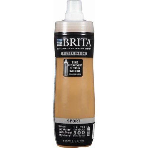 Brita Sport Water Filter Bottle, Mod Columns, 20 Ounce (Design May Vary)