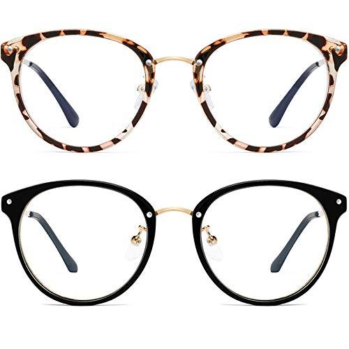 Retro Round Blue Light Blocking Glasses Women/Men - FEIDU Computer Anti Eye Eyestrain Reading Gaming FASHION Glasses Non Prescription2020 NEW