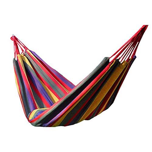 Camping Hammock, IFLYING Colorful Multifunctional Cotton Fabric Portable Travel Hammocks 2 Person 450lbs for Bedroom Indoor Hammock Chair Bed Outdoor Garden