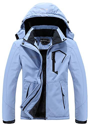 MOERDENG Women's Waterproof Ski Jacket Warm Winter Snow Coat Mountain Windbreaker Hooded Raincoat Jacket