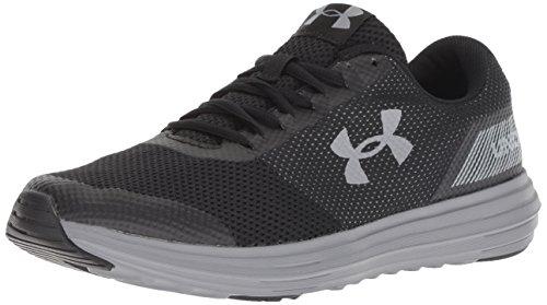 Under Armour Men's Surge Running Shoe, Black (004)/Black, 10