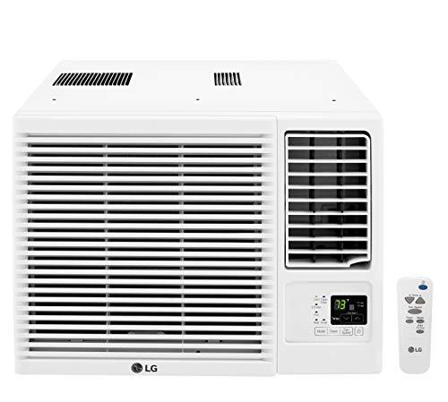 LG LW1216HR 11,500/12,000 230V Window-Mounted Air Conditioner with 9,200/11,200 BTU Supplemental Heat Function, 12000, White