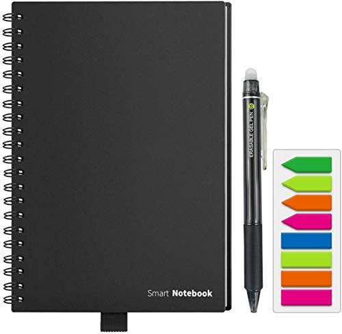 HOMESTEC Reusable Smart Notebook Erasable Wirebound Notebook APP Storage, 8.5 x 5.7in