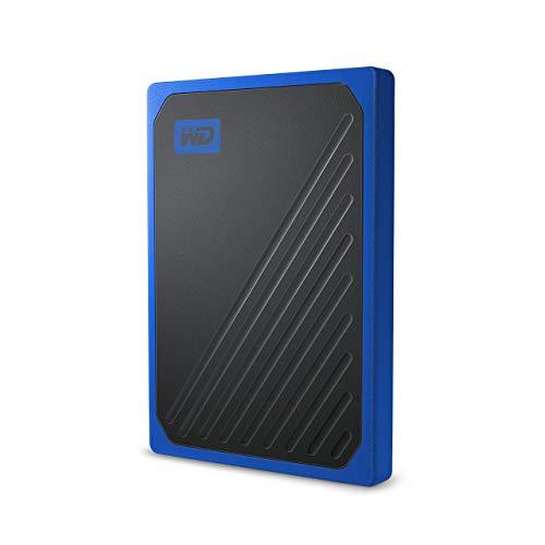 WD 500GB My Passport Go SSD Cobalt Portable External Storage, USB 3.0 - WDBMCG5000ABT-WESN