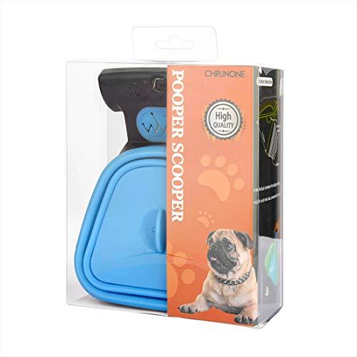 Dog Pooper Scooper, Portable Dog Scooper Pooper, Sanitary Dog Waste Pick Up, with Bag Dispenser, Dog Leash Clip and Pooper Scooper Bags (Large)