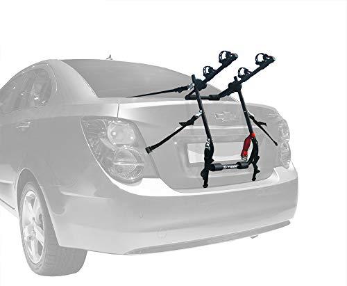 Tyger Auto TG-RK2B202B Deluxe Black 2-Bike Trunk Mount Bicycle Carrier Rack. (Fits Most Sedans/Hatchbacks/Minivans and SUVs.)