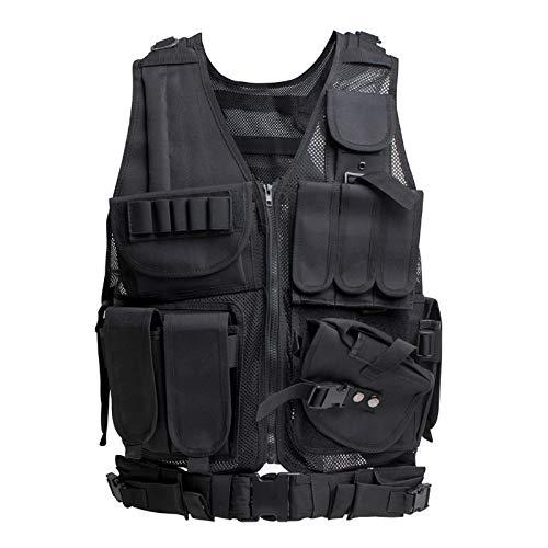Himal Tactical Vest for Men-600D Encryption Polyester-Military Vest-Adjustable Lightweight Combat Vest