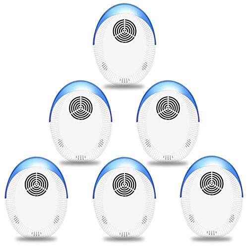 Ultrasonic Pest Repeller 6 Pack, Indoor Pest Control, Ultrasonic Pest Repellent, Indoor Pest Control for Home,Kitchen, Office, Warehouse, Hotel