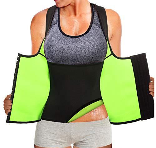 Rolewpy Women Neoprene Waist Trainer Corset Sweat Vest Sauna Body Shaper Cincher Workout Tank Top (Black Sauna Vest, XXX-Large (US 18))