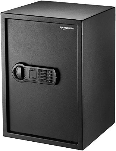 AmazonBasics Home Keypad Safe - 1.8 Cubic Feet, 13.8 x 13 x 19.7 Inches, Black - 50SAM