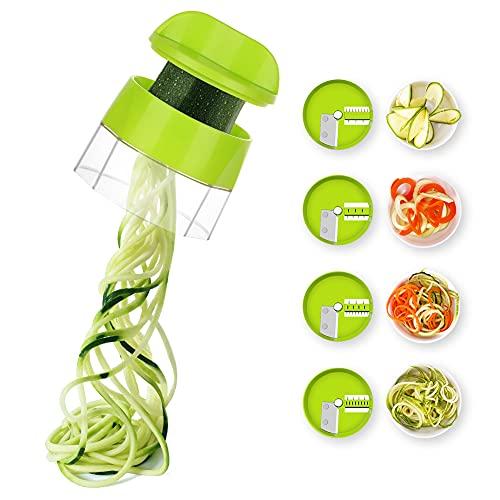 Spiralizer Zucchini Spiraler Veggie Spiralizer 4 in 1 Spiralizer Noodle Maker Vegetable Spiralizer Handheld Spiralizer Spiralizer Vegetable Slicer Zoodler Spiralizer Handheld Great for Salad