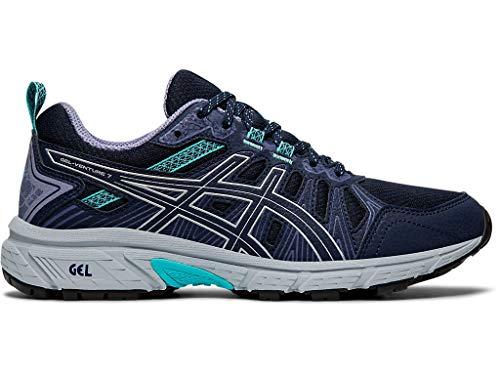 ASICS Women's Gel-Venture 7 (D) Shoes, 8W, Black/Silver
