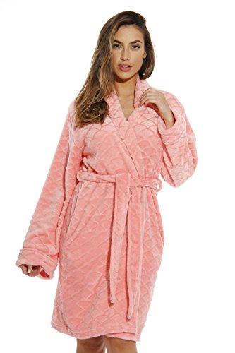 Just Love Kimono Robe Bath Robes for Women 6311-Coral-L